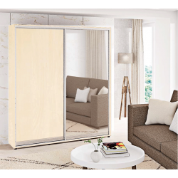 Шкаф-купе ДСП+Зеркало Стандарт 210/240х60х180 Комфорт-мебель