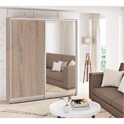 Шкаф-купе ДСП+Зеркало Стандарт 210/240х60х190 Комфорт-мебель