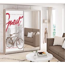 Шкаф-купе Фотопечать+Зеркало Стандарт 210/240х60х160 Комфорт-мебель