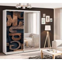 Шкаф-купе Фотопечать+Зеркало Стандарт 210/240х60х170 Комфорт-мебель