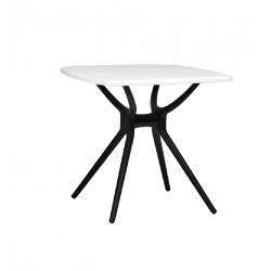 Стол пластик ТР-20 (черно-белый) Vetro Mebel