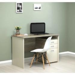 Стол письменный с тумбой Soft 120х60 Intarsio