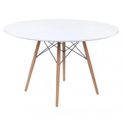Стол кухонный круглый Тауэр Вуд 100 белый Группа СДМ