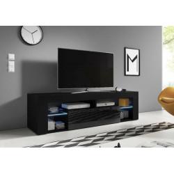 Тумба под ТВ Hugo черный/черный глянец GF Furniture