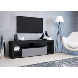 Тумба с подсветкой под ТВ Hugo черный/серая жемчужина GF Furniture