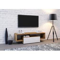 Тумба под ТВ Hubertus дуб вотан/белый глянец GF Furniture
