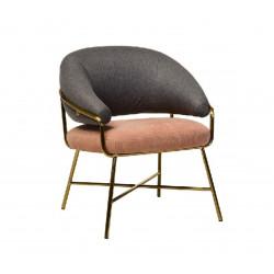 Кресло Адель (серый+розовый) Vetro Mebel