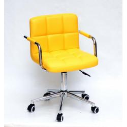 Кресло c подлокотниками Onder Mebli Арно Arm CH-Modern ЭкоКожа Желтый 1006