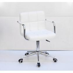 Кресло c подлокотниками Onder Mebli Арно Arm CH-Modern ЭкоКожа Белый