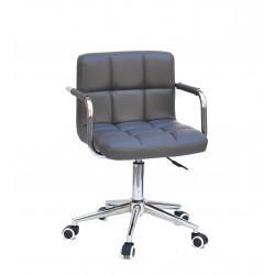 Кресло c подлокотниками Onder Mebli Арно Arm CH-Modern ЭкоКожа Серый 1001