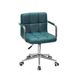 Кресло c подлокотниками Onder Mebli Арно Arm CH-Modern ЭкоКожа Зеленый 1002