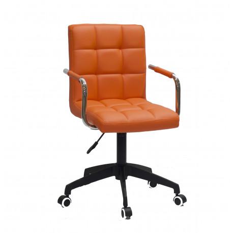 Кресло Onder Mebli Augusto Arm BK-Modern Office ЭкоКожа Оранж 1012