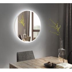 Зеркало круглое на основе ЛДСП с подсветкой Art-com ZL2 Белое