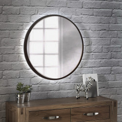 Зеркало на основе ЛДСП с подсветкой Art-com ZL2 Венге