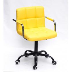 Кресло с подлокотниками Onder Mebli Арно Arm BK-Office Экокожа Желтый В-1006