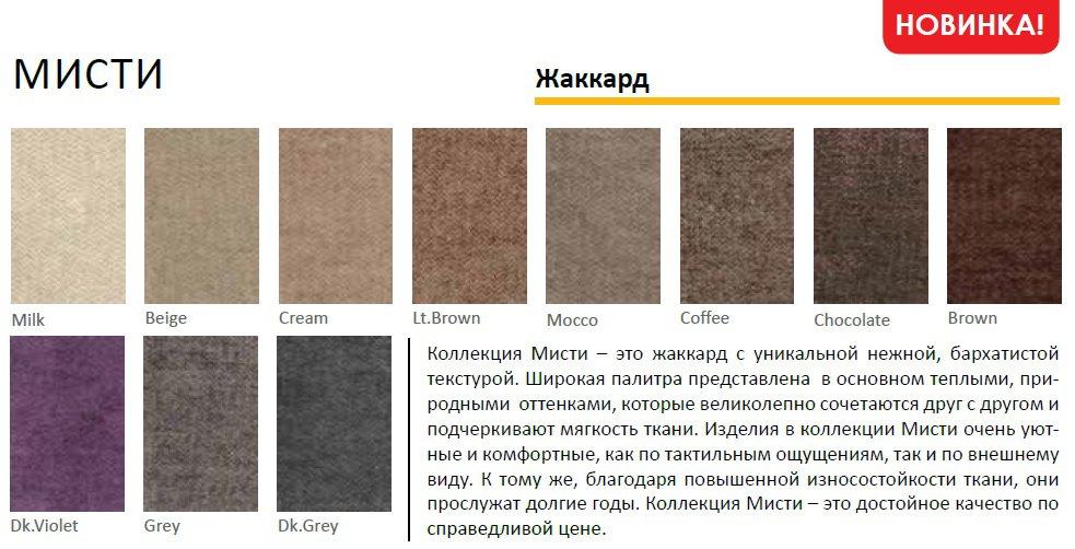Кровать с мягким изголовьем Эдинбург Richman Стандарт Ткань Мисти Dk.Grey