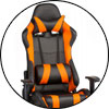 Кресло ExtremeRace PL black/orange Special4You Technostyle