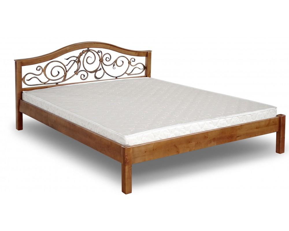 Кровать деревянная с ковкой Италия ЧДК