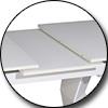Стол ТМL-545 (145-175 см) матовый белый Vetro Mebel