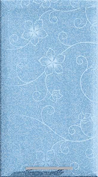 Голубой с цветком