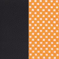 Оранж сетка/черный кожзам PU