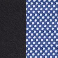Синяя сетка/черный кожзам PU